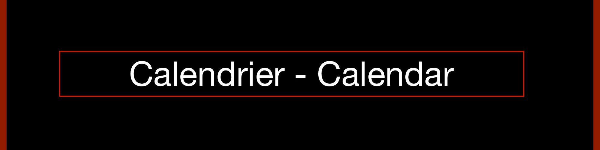 Kevin Calixte Calendrier - Calendar